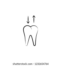 dental, removable denture icon. Element of dantist for mobile concept and web apps illustration. Hand drawn icon for website design and development, app development