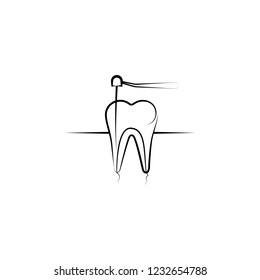 dental treatment icon. Element of dantist for mobile concept and web apps illustration. Hand drawn icon for website design and development, app development