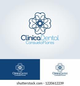 Dentish logo with simpleks blue colour