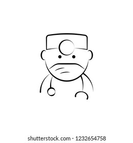 dentist, doctor icon. Element of dantist for mobile concept and web apps illustration. Hand drawn icon for website design and development, app development