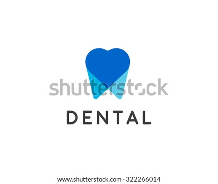 Dentist Logo Design Template Tooth Creative Stock Illustration
