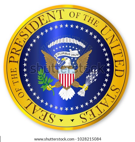 Royalty Free Stock Illustration Of Depiction Seal President United