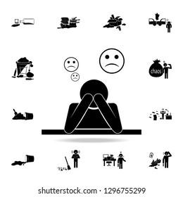 depression icon. Detailed set of chaos element icons. Premium graphic design. One of the collection icons for websites, web design