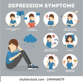 Symptoms Depression Images, Stock Photos & Vectors ...