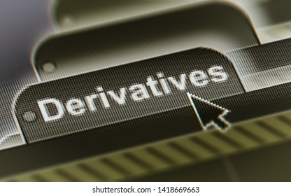 Derivatives. A file in a screen. Illustration.
