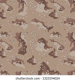 Desert Storm Gulf War Camo Camouflage Military Pattern Troops Army Navy Air Force Marines Veterans Background Graphic Illustration