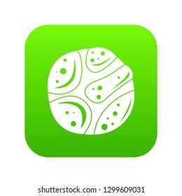 Deserted planet icon digital green for any design isolated on white illustration