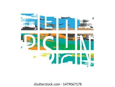 design abstrak paint brush in frames