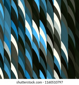 Design background of rows of blue and dark circles. 3d illustration