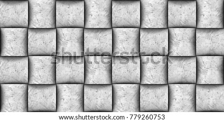 Design Basketry 3d Wall Tiles Material Concrete High Quality Seamless Realistic Texture