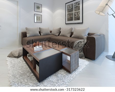 royalty free stock illustration of design contemporary living room