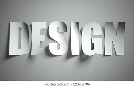 Design cut from paper, background