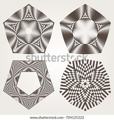 Design Elements Graphic Elements Design Geometric Stock Illustration