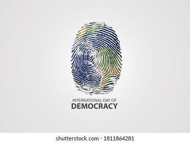 Design for International Day of Democracy 15th September. International Day of Democracy provides an opportunity to make people appreciate the importance of democracy and the effective of Human Rights