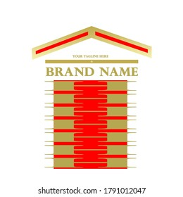 Design logo - Real Estate represents the concept of building a multi-storey building by which you describe your business activities through colors. Red radiates energy and gold describes the luxury.
