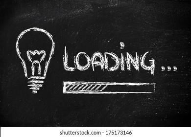 design of progress bar, loading an idea