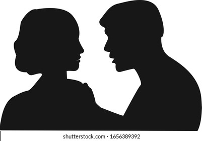 Design of silhouette of a man and a woman