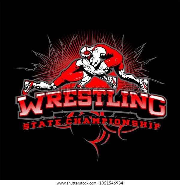 Design Sport Wrestling Logo Stock Illustration 1051546934
