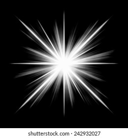 Design star photoshop background black-white luminous rays 	isolate white star