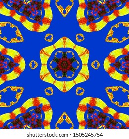 design with a symmetrical pattern of beautiful color combinations