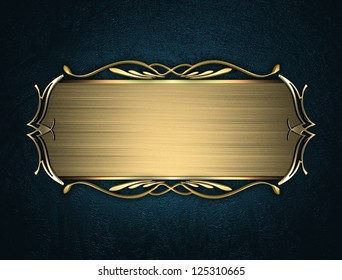 template writing gold name plate gold stock illustration 127358030
