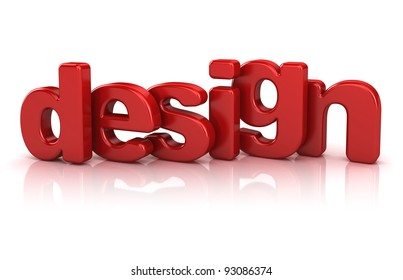 design text 3d isolated over white background