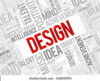 Design word cloud, business concept