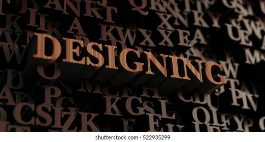Designing - Wooden 3D rendered letters/message.  Can be used for an online banner ad or a print postcard.