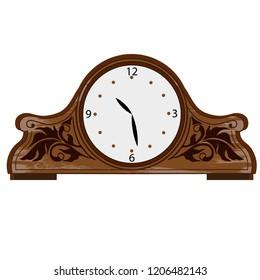 desktop clock in classical style