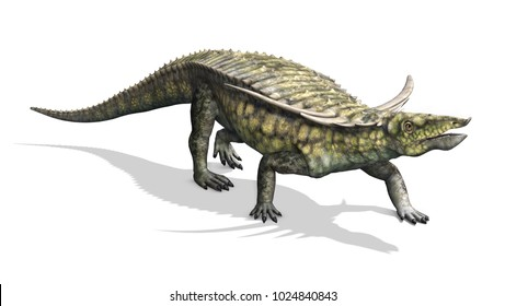 The Desmatosuchus was a dinosaur that lived during the Triassic Period - 3D render.