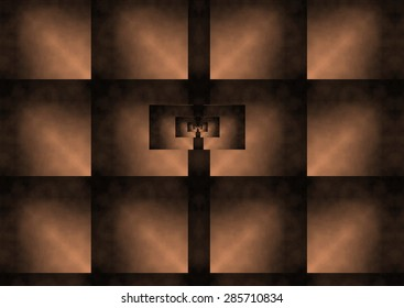 destiny, space symmetry, coppery color, dark background,illustration, spirals twist,  abstract expressionism, abstract surrealism, digital art,