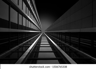 Detail of modern architecture, Fineart in black and white