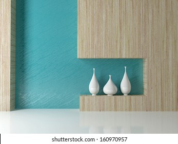 Detail shot of modern living room wall. Interior design.