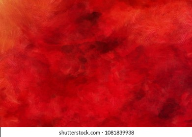 Detailed close-up grunge wine color abstract background. Dry brush strokes hand drawn oil painting on canvas texture. Creative simple pattern for graphic work, web design or wallpaper.