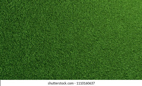 Detailed green grass lawn texture seen from above (3D Rendering)