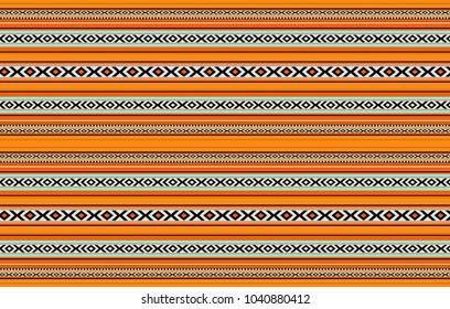 Detailed Horizontal Traditional Handcrafted Orange Sadu Rug