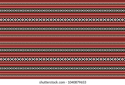 Detailed Horizontal Traditional Handcrafted Red Sadu Rug