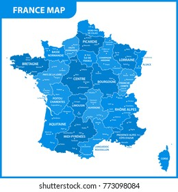 France map images stock photos vectors shutterstock the detailed map of the france with regions or states and cities capital gumiabroncs
