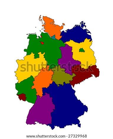 Detailed Map Germany Stockillustration 27329968 – Shutterstock