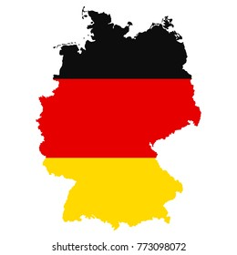 The detailed map of the Germany with National Flag
