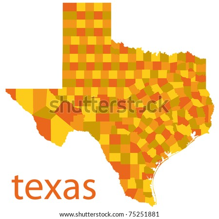 Detailed Map Of Texas.Detailed Map Texas State Usa Stock Illustration 75251881 Shutterstock