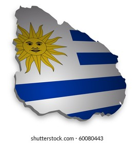 detailed map of uruguay