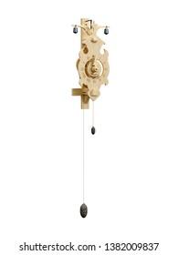 Detailed model wooden clock from 1640. 3D model