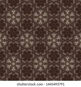 Detailed seamless texture pattern background. Vintage style wall paper, wrapping paper background design with dark color tone.