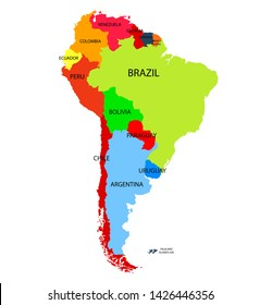 South America Map Outline Images, Stock Photos & Vectors | Shutterstock