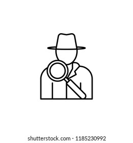 detective icon. Element of crime and punishment icon for mobile concept and web apps. Thin line detective icon can be used for web and mobile on white background