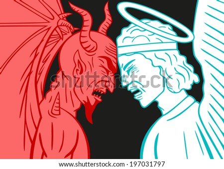 Devil VS Archangel Bitmap