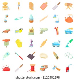 Dexterity icons set. Cartoon set of 36 dexterity icons for web isolated on white background