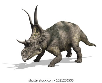 The diabloceratops was a dinosaur that lived during the Cretaceous period - 3d render.