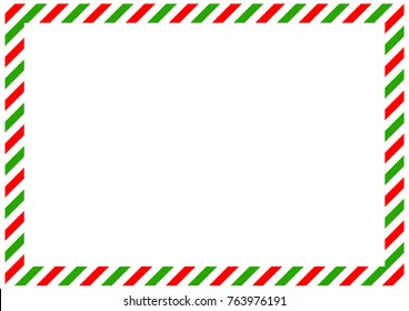 diagonal red and green bands along the perimeter of the sheet